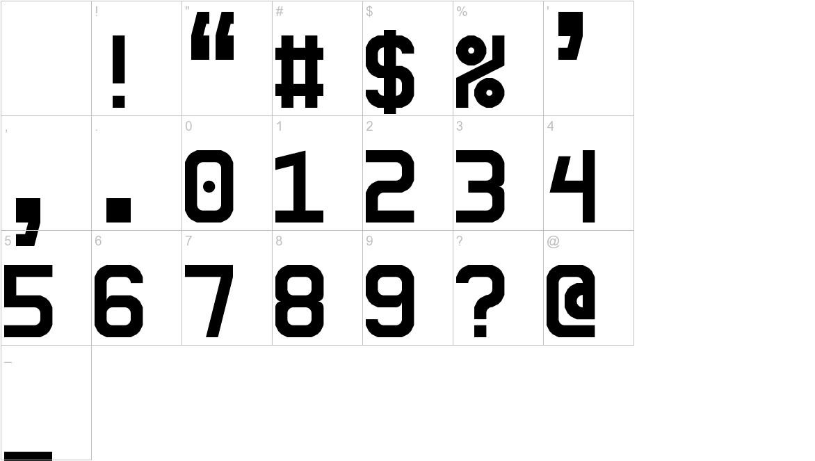 5Ceta Mono characters