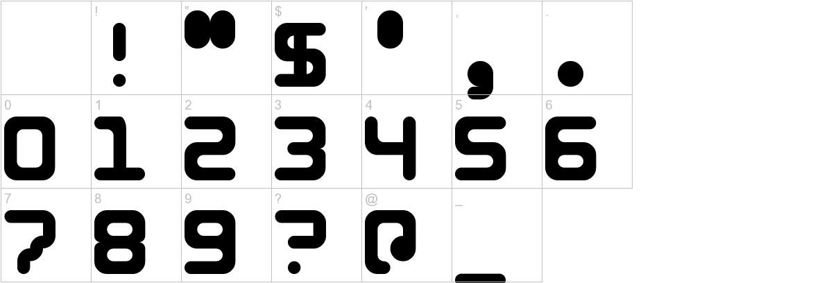 5Identification Mono characters