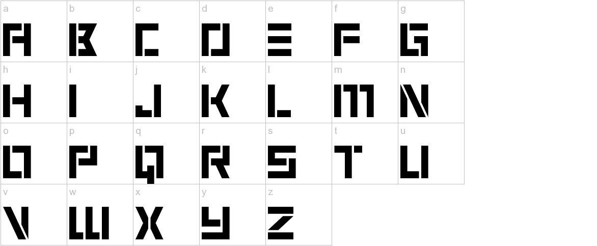 6 Cells lowercase