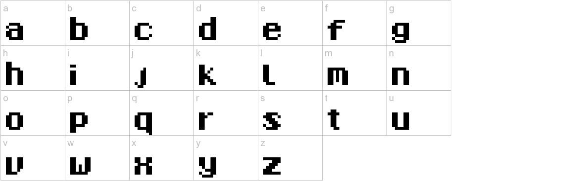 8-Bit Madness lowercase