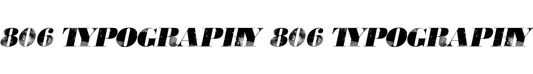 806 Typography 806 Typography
