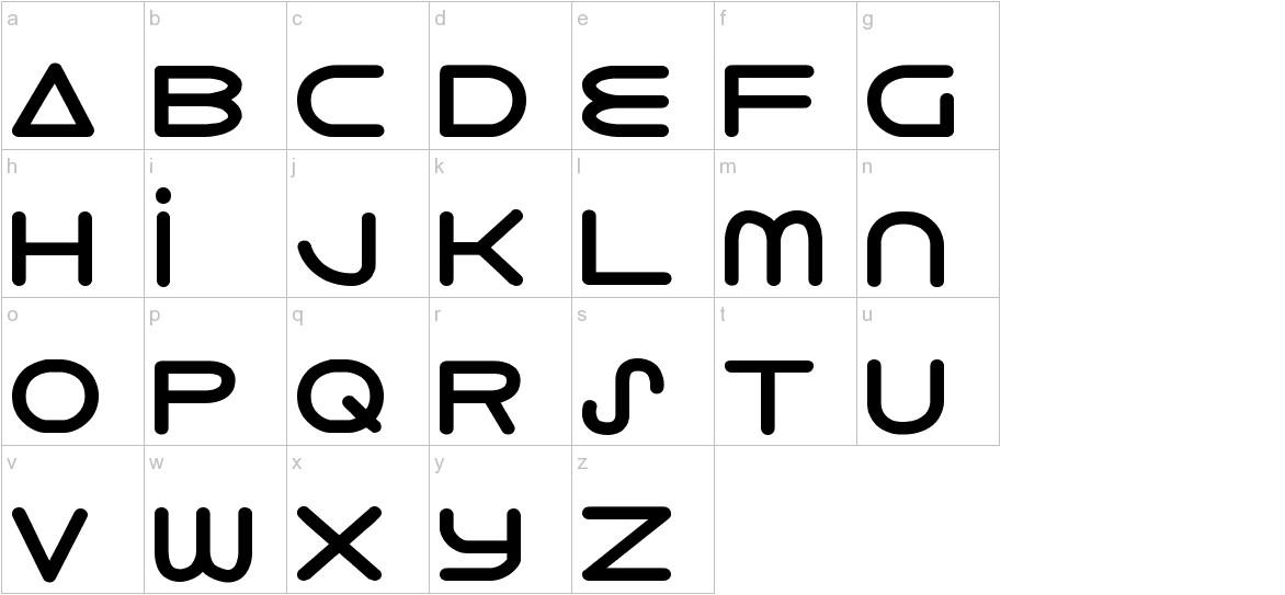 8th Element ExtraBold lowercase