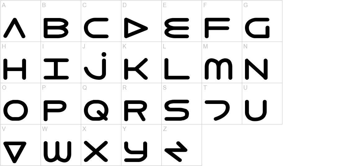 8th Element ExtraBold uppercase