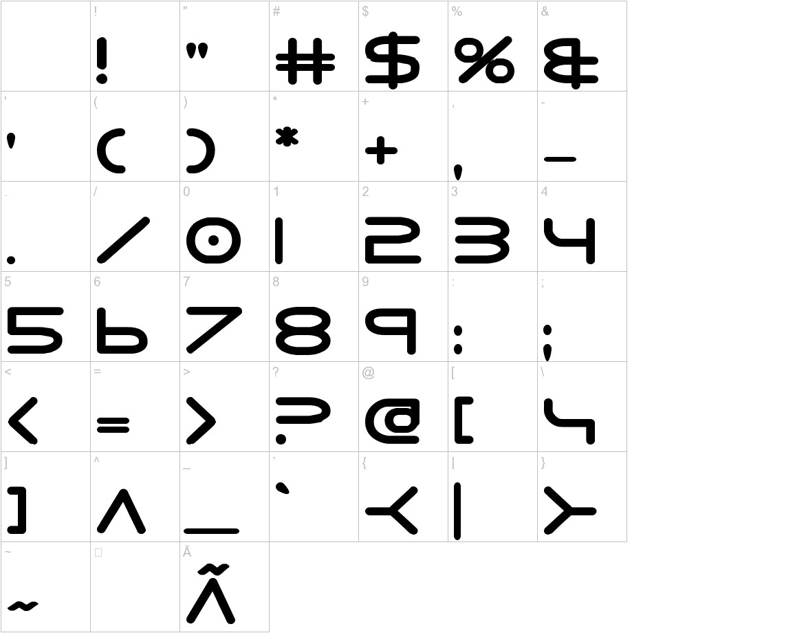 8th Element ExtraBold characters