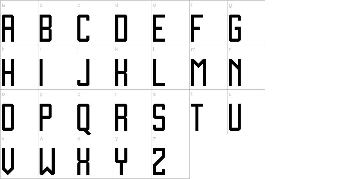 Zen Monolith lowercase