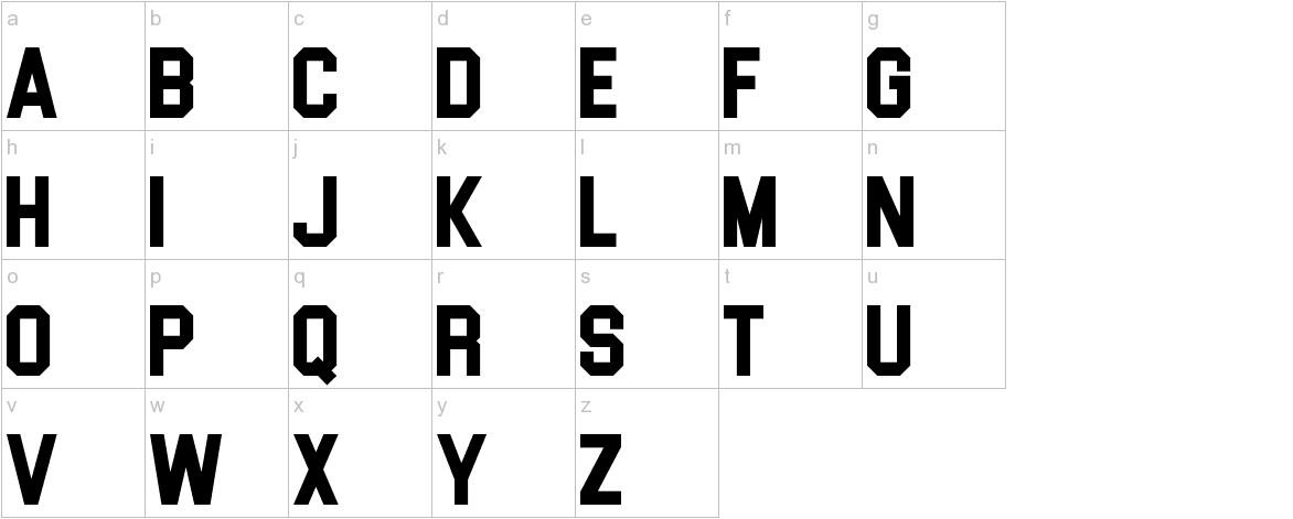 Blockletter lowercase