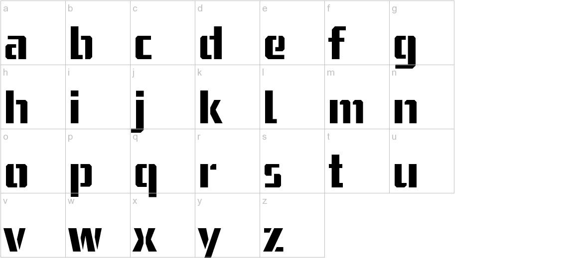 USSR STENCIL lowercase