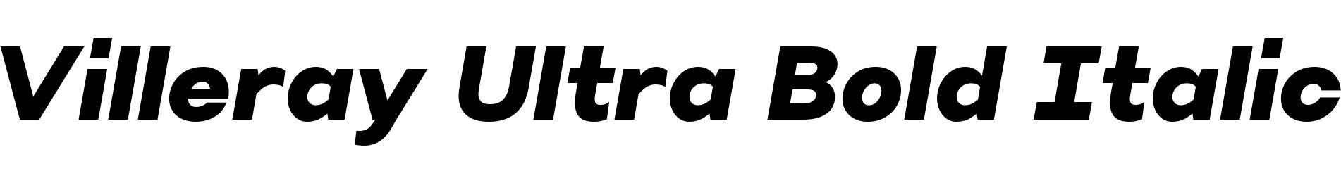 Villeray Ultra Bold Italic