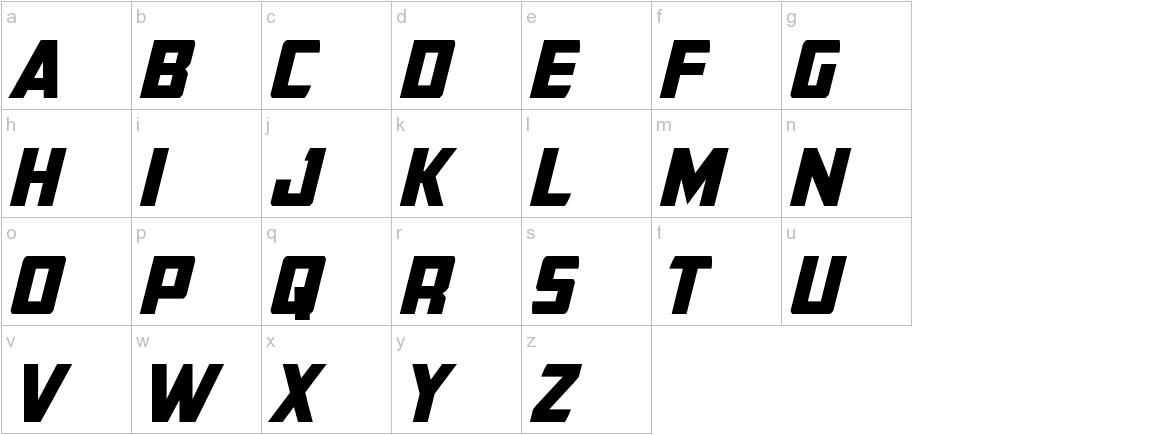 Buchanan Italic lowercase