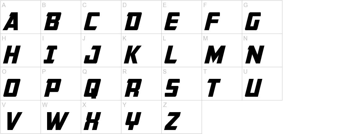 Buchanan Italic uppercase