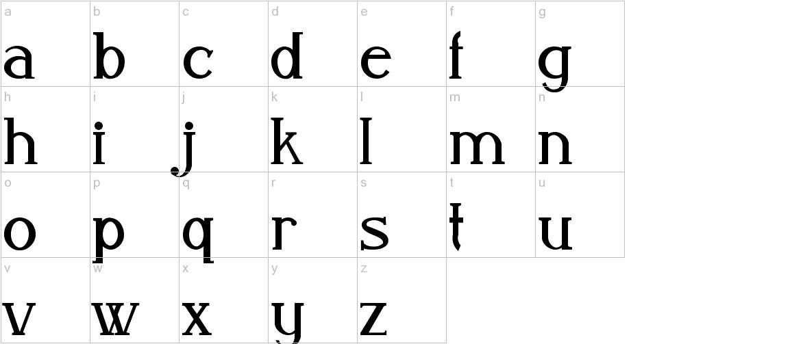 Aleijadinho lowercase