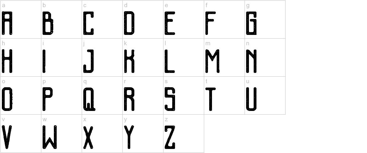 Kalemun Rough lowercase