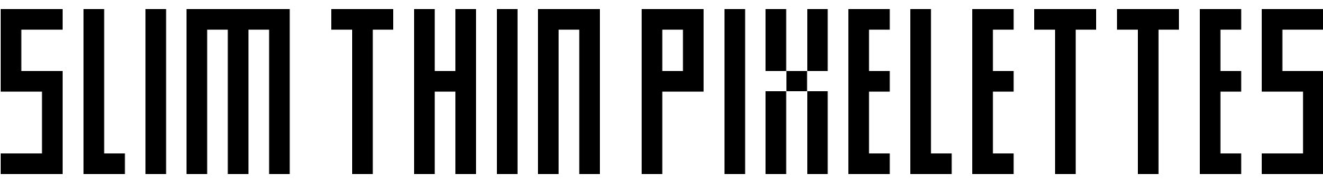 Slim thin pixelettes