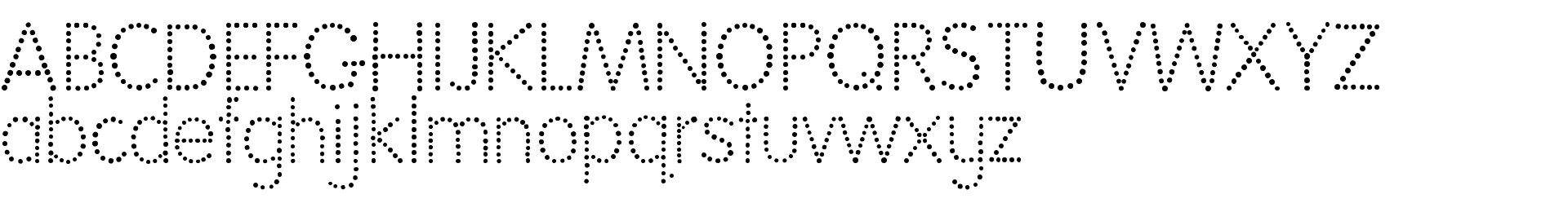 National First Font Dotted