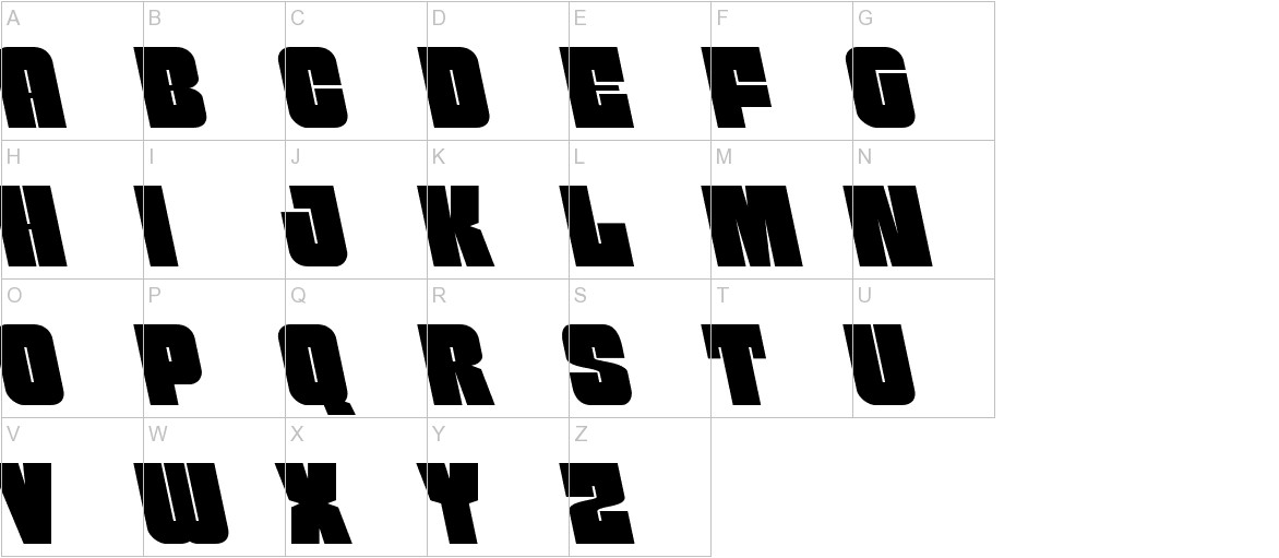 Funk Machine Leftalic uppercase