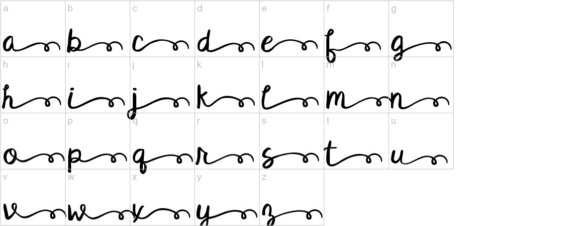 KG Satisfied Script Alt lowercase