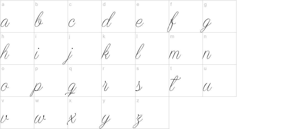 Encina Script 2 lowercase
