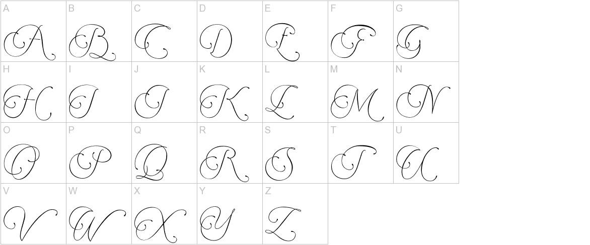 Encina Script 2 uppercase