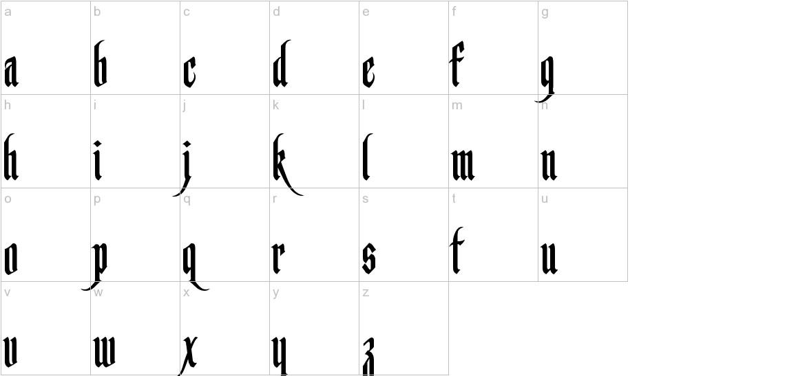 Germanika Personal Use Regular lowercase