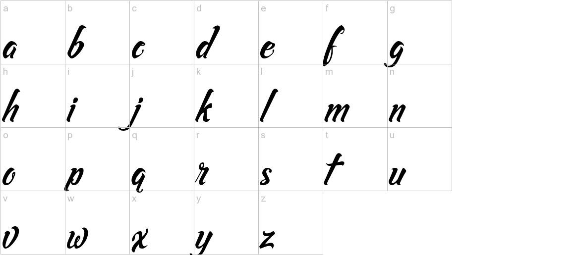 Asiyah Script lowercase