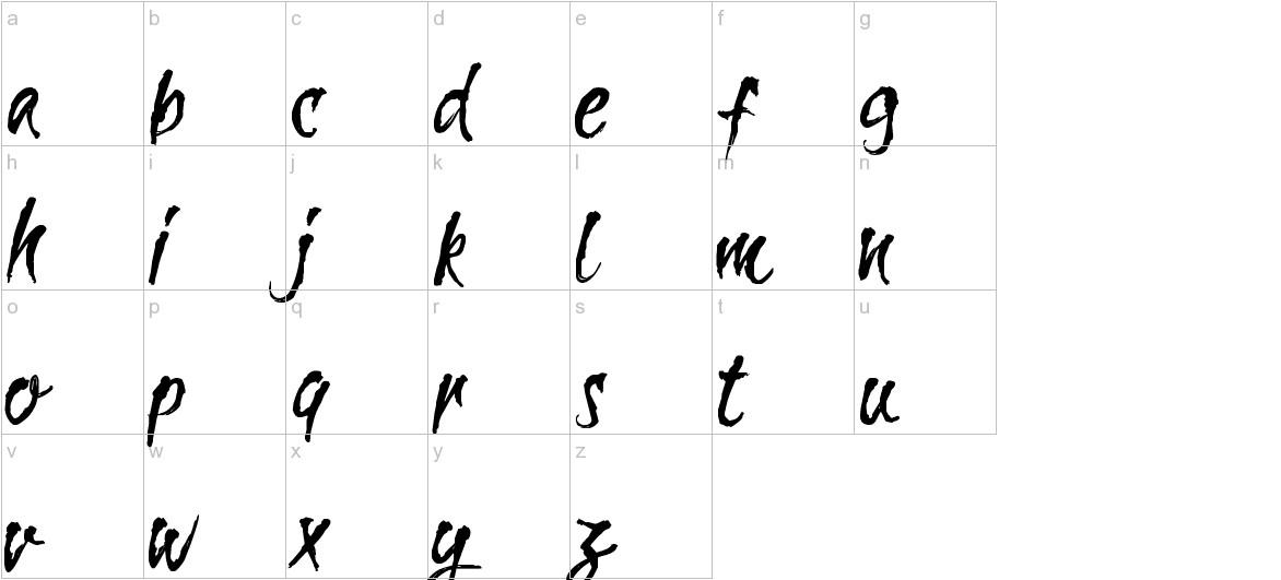CF La Sorciere Noire Regular lowercase