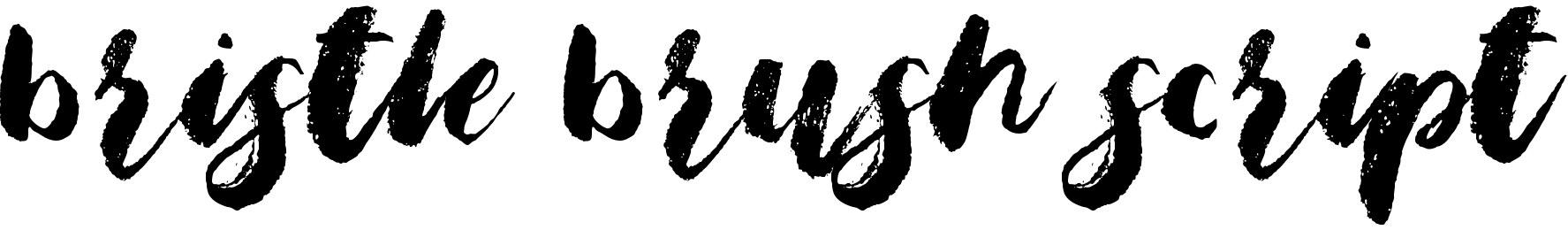 Bristle Brush Script