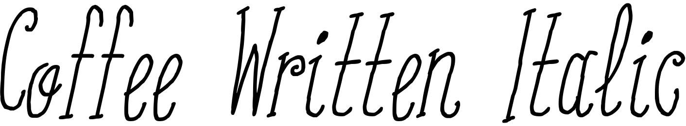 Coffee Written Italic
