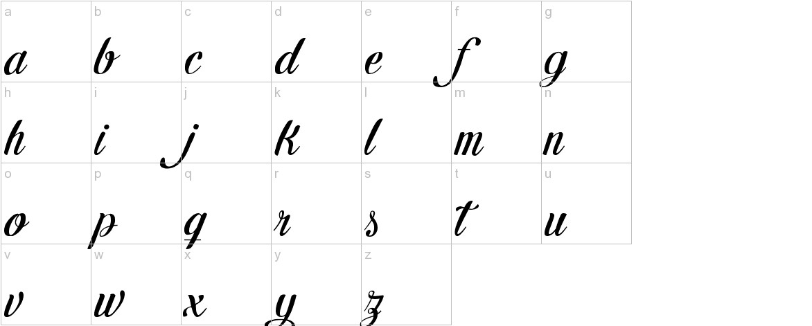 Letra Hipster - Personal Use lowercase