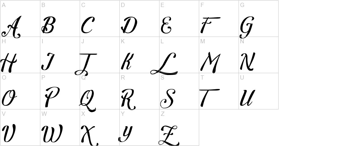 Letra Hipster - Personal Use uppercase