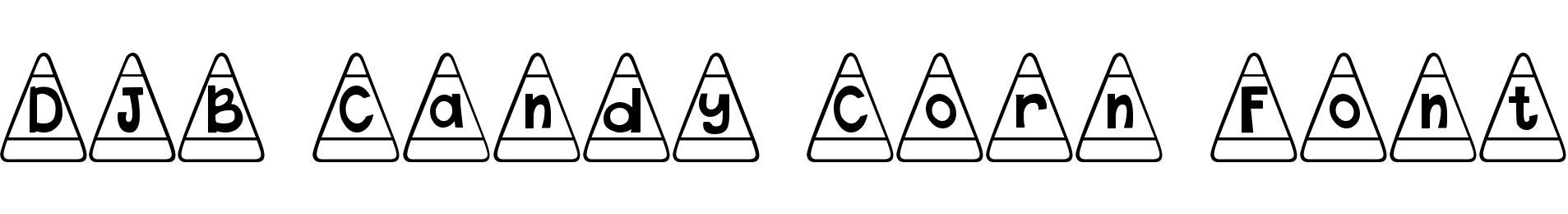 DJB Candy Corn Font
