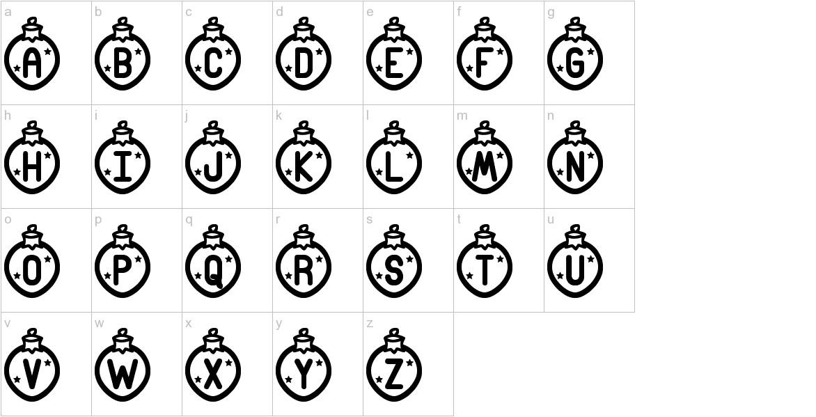 Merry Xmas St lowercase