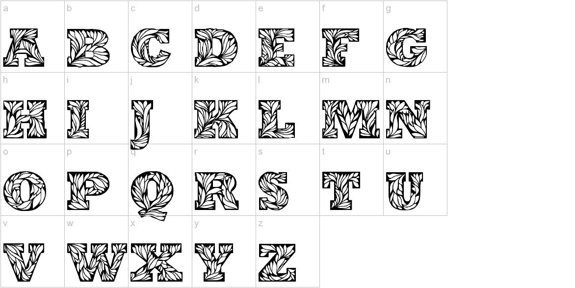 Leaffy lowercase