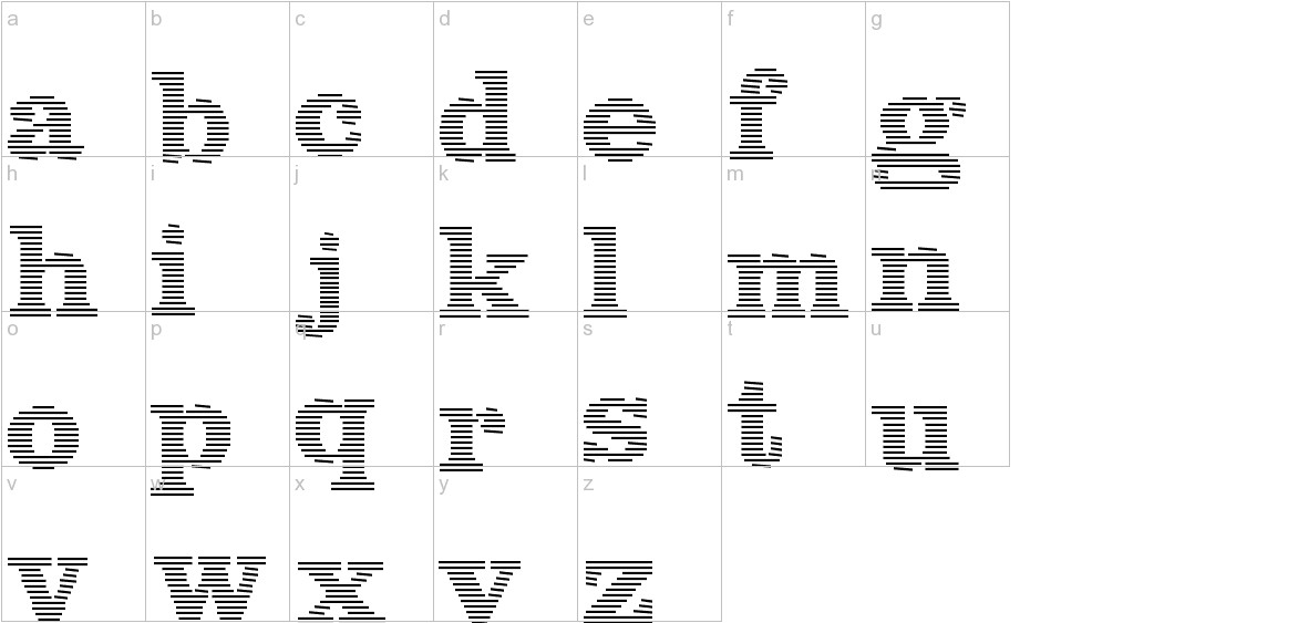 Blue lines lowercase