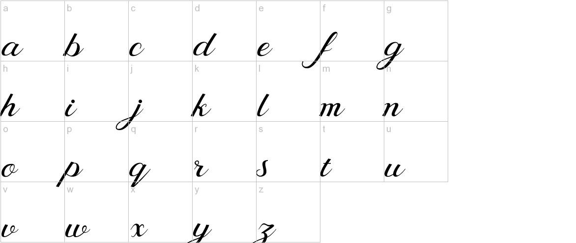 Behind Script lowercase