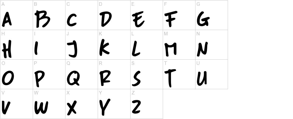 DK More Or Less Regular uppercase