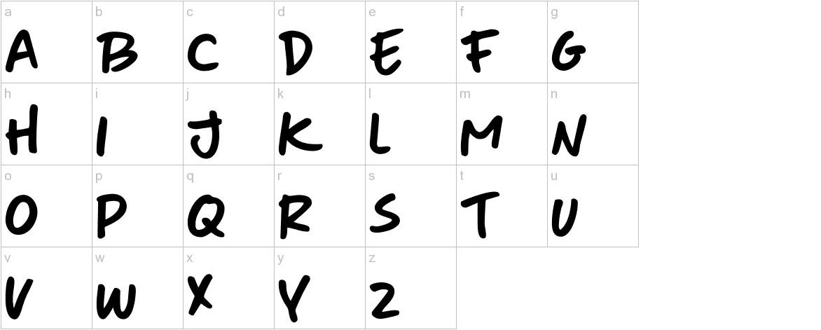 DK More Or Less Regular lowercase