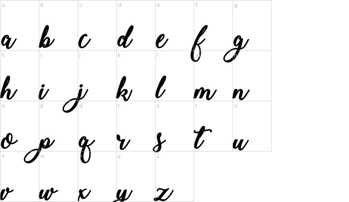 Bold & Stylish Calligraphy lowercase