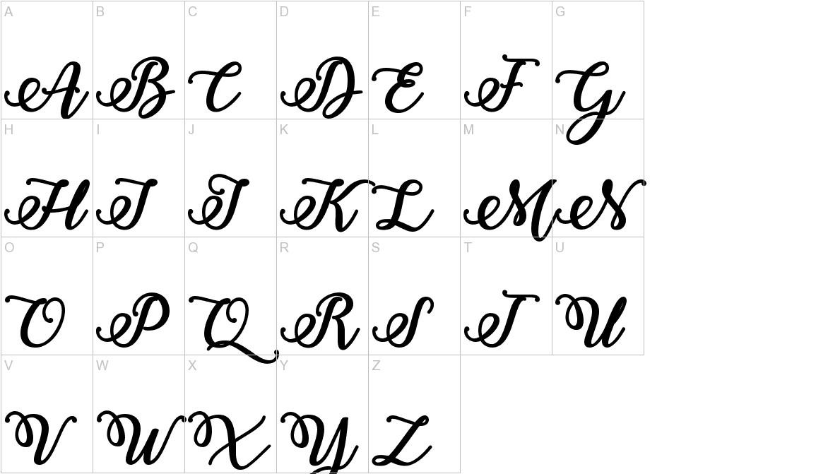 Bold & Stylish Calligraphy uppercase