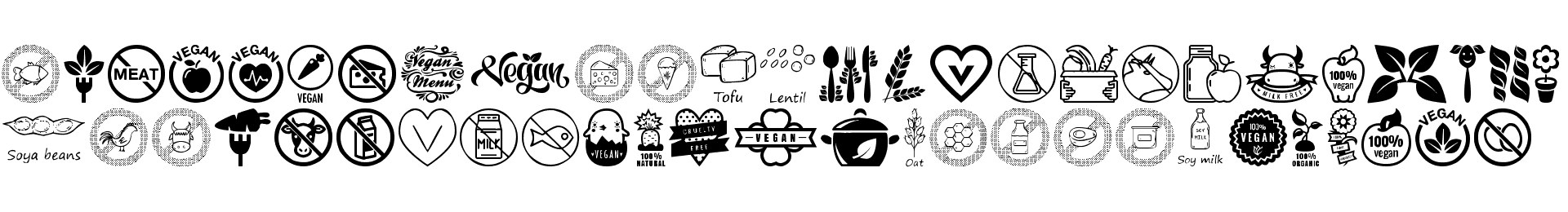 Vegan Icons