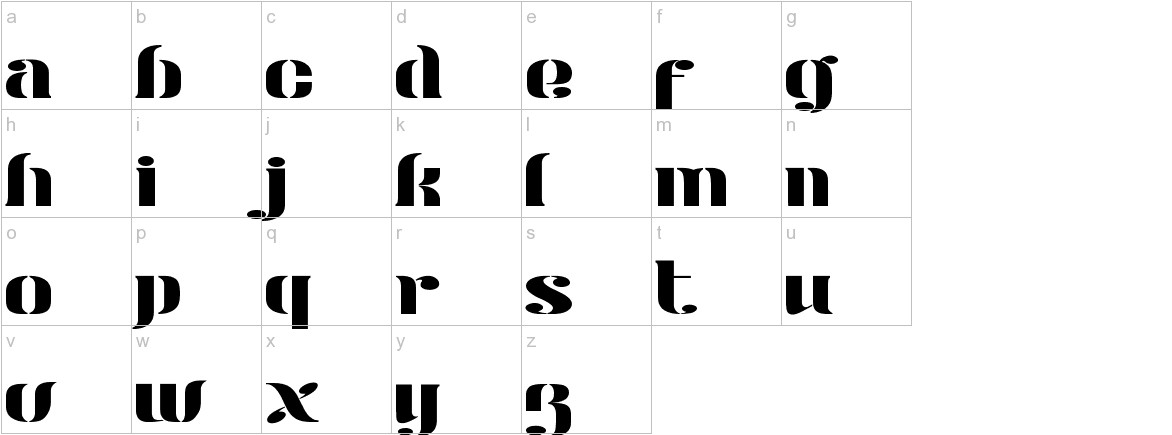 Modern Stencil Personal Use lowercase