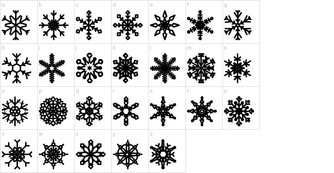 Snowflakes St lowercase