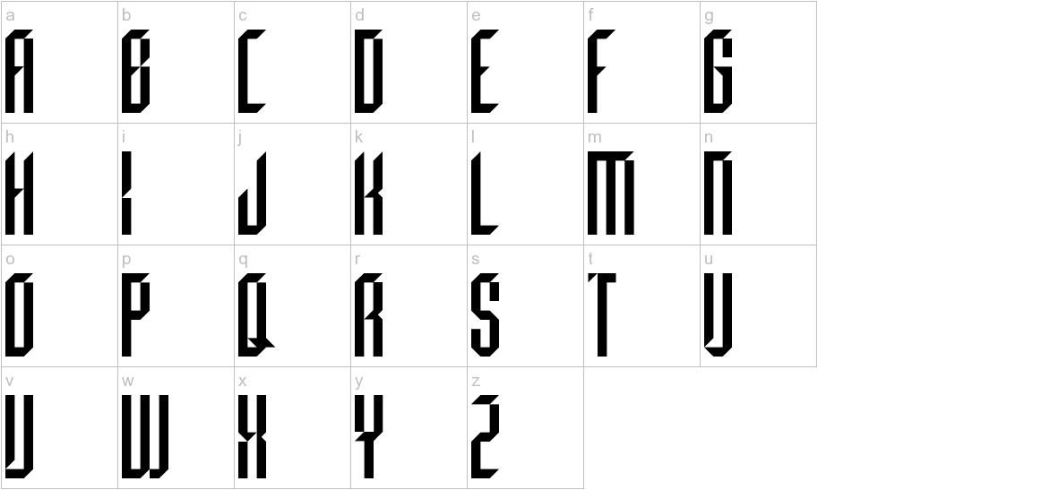 Beheaded Regular lowercase