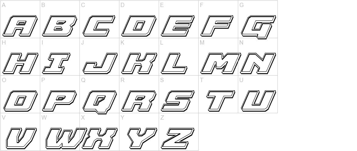 Cruiser Fortress Engraved Italic uppercase