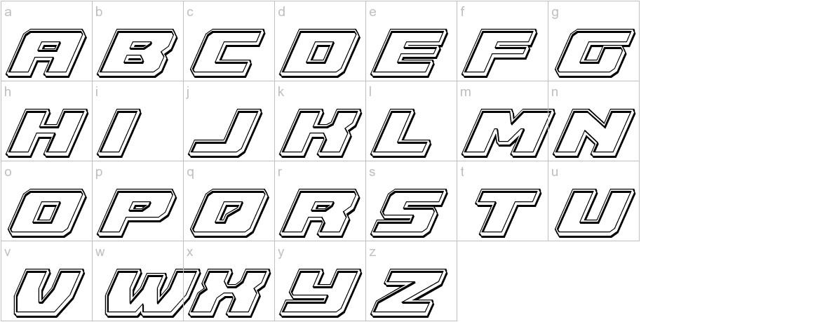 Cruiser Fortress Engraved Italic lowercase