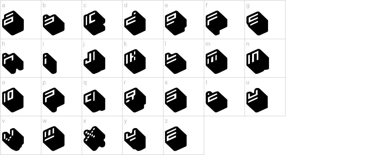 nippon blocks lowercase