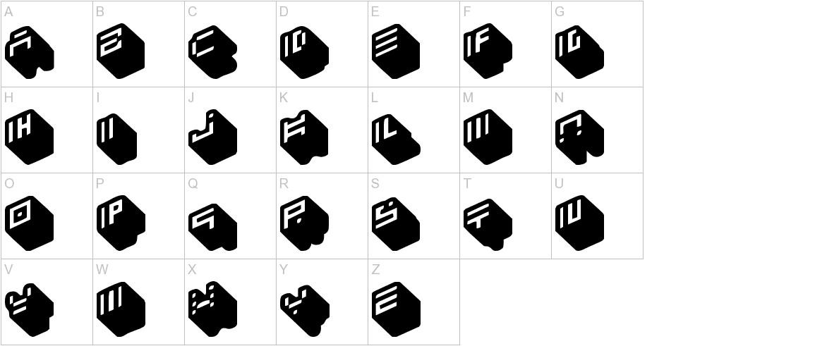 nippon blocks uppercase
