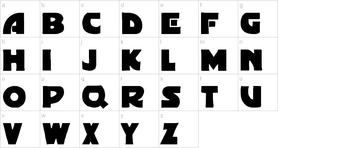 Gordoni Bold lowercase