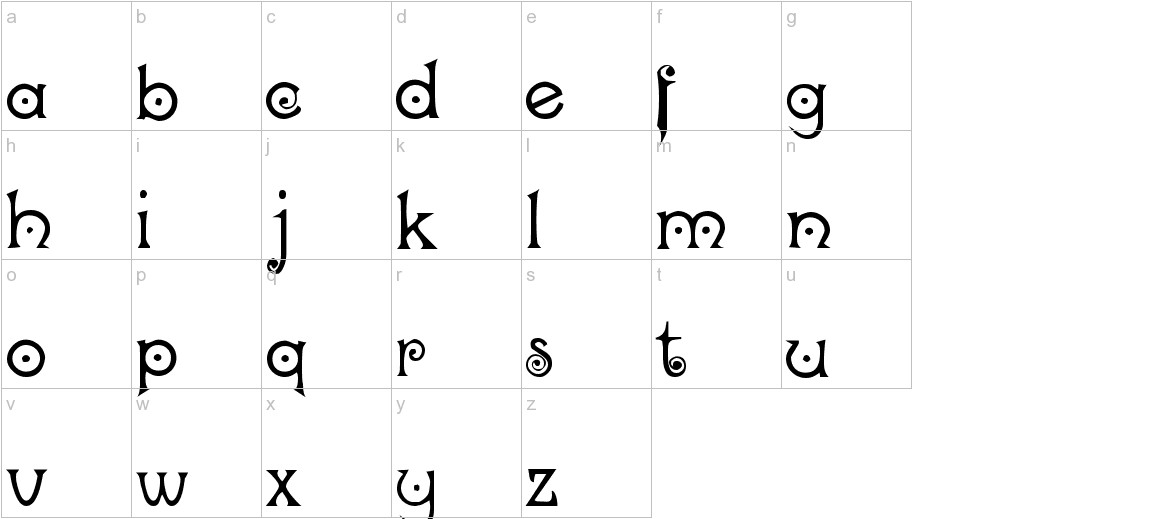 Nocker   Cranky lowercase