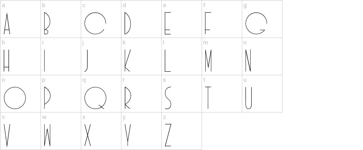 Idilica lowercase