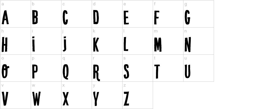 DK Crypt Regular lowercase